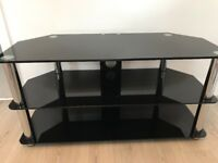 Tv Stand Glass & Black