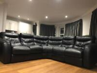 Leather corner sofa £400 ONO
