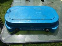 Camping gas 2 burner stove with pans