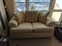 3+2 cream sofas