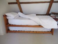 **Single bed with another pull out single bed underneath**Turns into a double!**