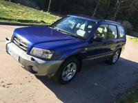 03 SUBARU FORESTER 2LTR X ALL WEATHER, SUNROOF/ CRUISE.