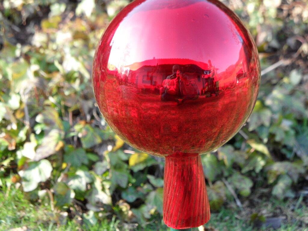 Gartenkugel Rosenkugel  Große Rosenkugeln Glaskugeln Balkon / Garten rot neu