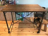 Old trestle style table vintage industrial