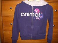 Hoodie by ANIMAL Age 7-8 yrs