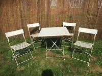 Garden metal table and chairs set