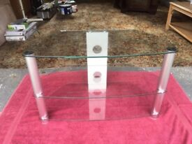 Modern, elegant glass TV stand