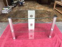Modern, elegant glass TV stand