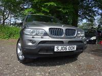 06 BMW X5 3.0 DIESEL AUTOMATIC 4X4,MOT DEC 019,1 OWNER FROM NEW,PART HISTORY,2 KEYS STUNNING 4X4