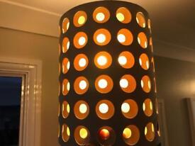 Two hall way lamp shades