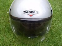 Caberg crash helmet size mediun 57/58 pilot sun glasses and clear visor fitted cost £189 when new.