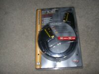 MONSTER GOLD (and Acoustic Research (1.5m) SCART to SCART lead, 2 metres. brand new unopened
