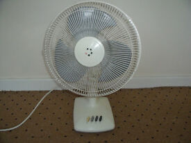 """12"""" 3 speed oscillating fan in good condition."""
