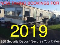 CARAVAN HIRE TOWYN NORTH WALES TAKING BOOKINGS FOR 2019 EASTER HALF TERM DATES AVAILABLE 3 BEDROOM