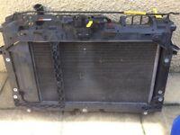 Fiesta st180 radiator, fan and slam panel