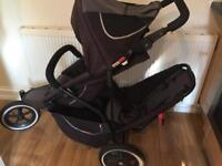 Phil ted double pushchair with raincover W4