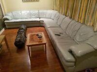 Stunning Designer Italian L-Shaped Leather sofa