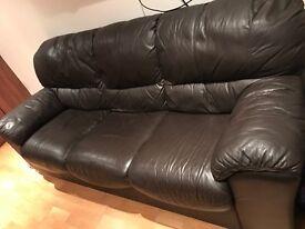 Italian leather 3seat sofa for sale