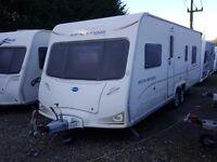2008 Bailey Senator Louisianna Twin Axle Fixed Island Bed 4 Berth Caravan