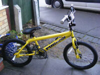 """20"""" WHEEL BMX WITH STUNT PEGS AGE 8+ IN GOOD WORKING ORDER NO RUST"""