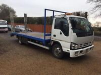 Isuzu Nqr plant / recovery lorry 2008 21ft body with Ramsey winch fold down ramps nice truck