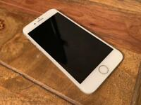 White iPhone 6S for sale w/ brand new headphones and Mous carbon fibre case