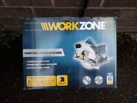 1500W CIRCULAR SAW WITH LASER AND TWO BLADES ( USED ONCE )