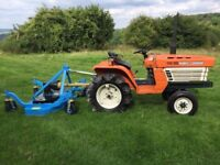Kubota B1400 2WD Compact Tractor with New 4ft Finishing Mower
