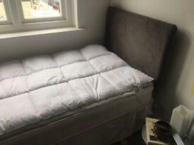 John Lewis single bed, mattress and headboard