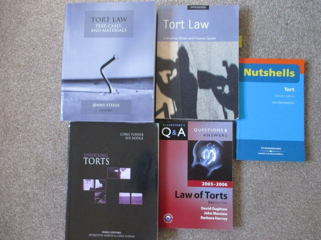 5 TORT LAW P/B BOOKS MAINLY 2000's A LEVEL/UNIVERSITY USED £1 EACH COLLECT  ONLY SS7 1LB BENFLEET | in Benfleet, Essex | Gumtree