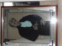 vintage mirror picture of James Dean