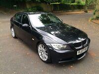 2007 07 BMW 325D M SPORT A SALOON 3.0 DIESEL 4DR AUTO BLACK SAPPHIRE 330D 335D