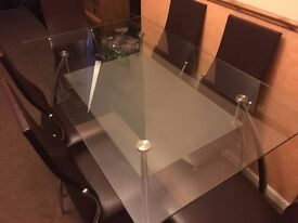 Large Glass Table & 6 Chairs in Caerphilly