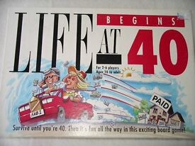 2 Board games: Life begins at 40 and Game of Life: excellent condition, opened but not played