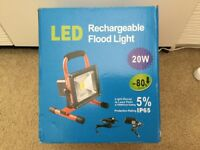 Rechargeable led flood light ( new ) no offer
