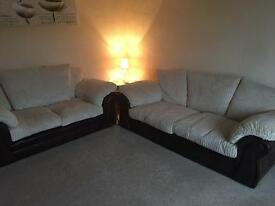 Two gorgeous half leather Sofas for sale MUST GO THIS WEEKEND