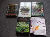 5 books on plants and garden