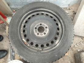 Spare wheel & tyre and ford Mondeo steel wheel Goodyear eagle vector 205/55R16 91V approx 4mm tread