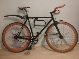 Single Speed Mango Bicycle With Puncture Proof Tyres, D Lock and New Wheel