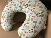 Boppy Nursing breastfeeding Pillow cushion Forest Friends Removable Cover VGC