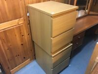 TWO MALM BEDSIDE CABINETS