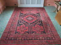 LARGE WOOL RUG, EXCELLENT CONDITION.