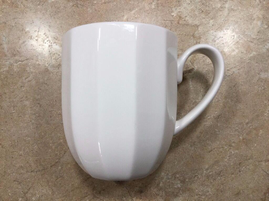New 11 X White Bone China Mugs Cups Sainsburys Finest
