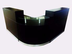 Reception Desk in Black Matt 1600mm/Ref: 0402