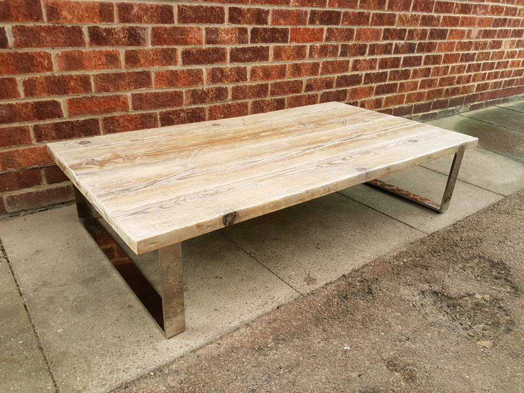 Industrial Large Scaffold Plank Coffee Table Reclaimed