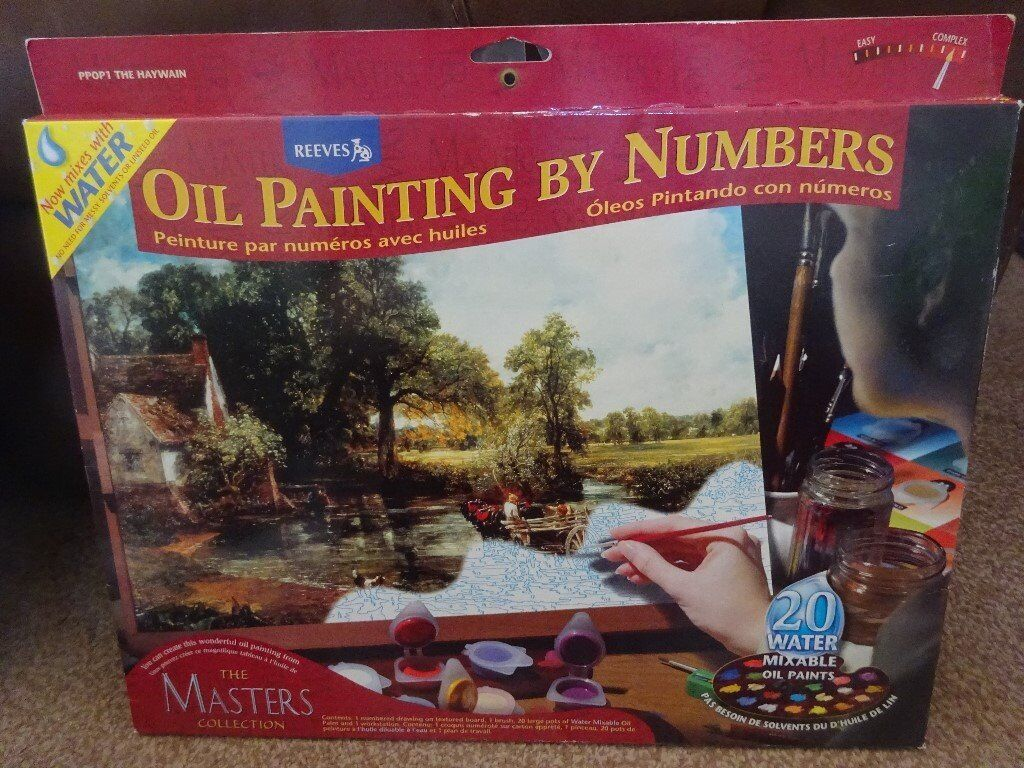 New Reeves The Masters Collection Oil Painting by Numbers The Haywain art and craft xmas gift