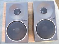 VINTAGE METAL CASED BOOKSHELF SPEAKERS