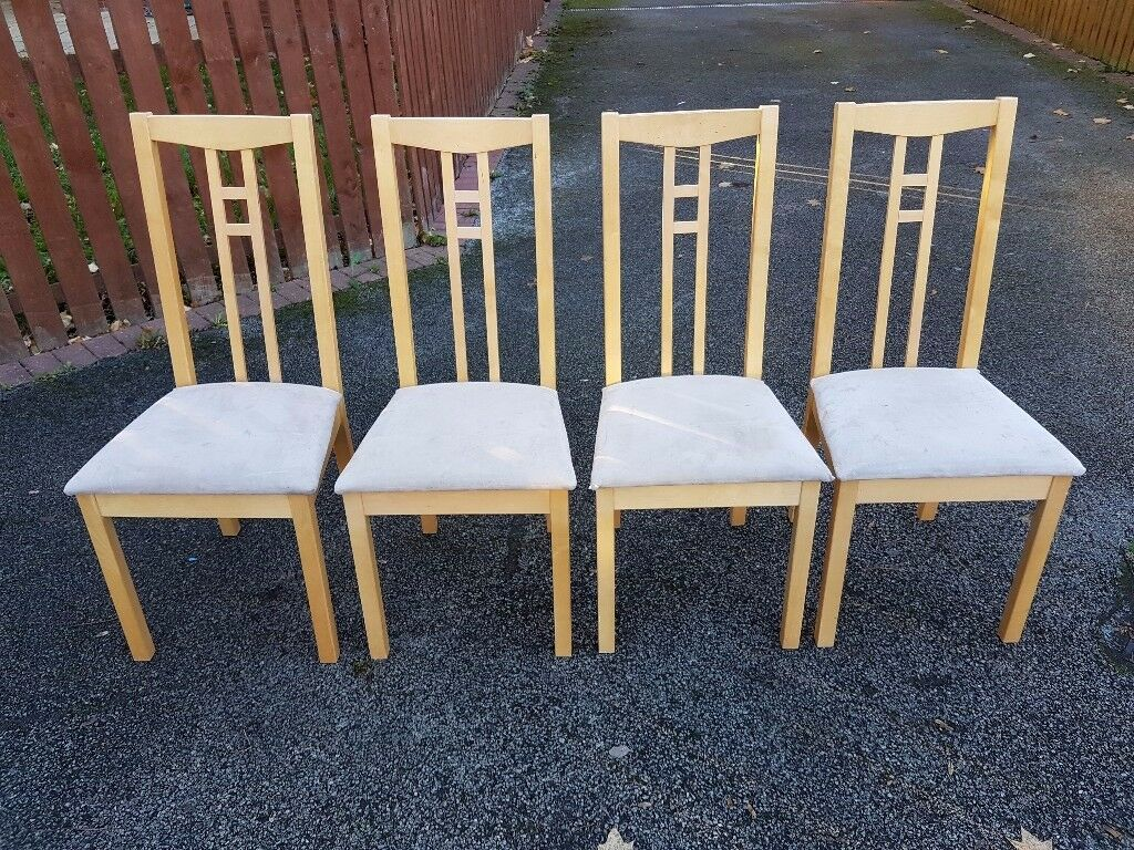 4 Ikea Aaron Chairs Fabric Seats FREE DELIVERY 078