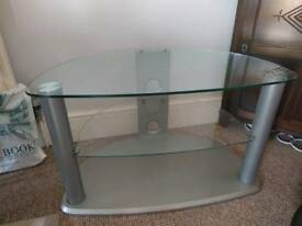 TV stand glass/metal