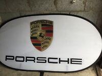 Porsche pop up sign